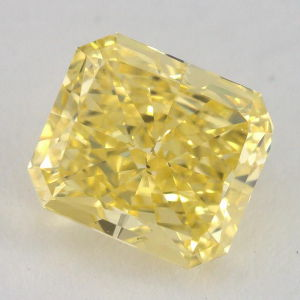 Fancy Vivid Yellow, 1.41 carat, VS2