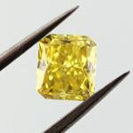Fancy Vivid Yellow, 0.61 carat, VS1