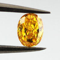 GIA Oval Fancy Vivid Yellowish Orange Diamond, 0.29 carat