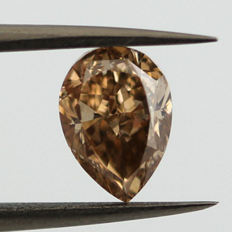 Fancy Yellow Brown Diamond, Pear, 1.55 carat, SI2 - B