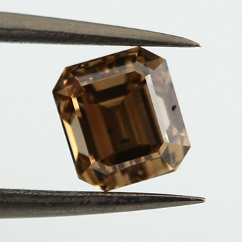 Fancy Yellow Brown Diamond, Emerald, 1.01 carat, VS2 - C