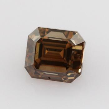 Fancy Yellow Brown Diamond, Emerald, 1.01 carat, VS2