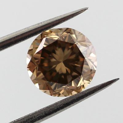 Champagne Diamond Fancy Yellow Brown 0 85 Carat Vs1