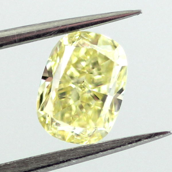 Fancy Yellow Diamond, Cushion, 1.01 carat, SI1