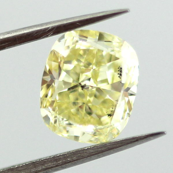 Fancy Yellow Diamond, Cushion, 1.42 carat, SI2
