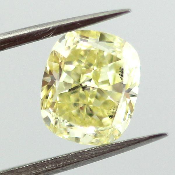 Fancy Yellow Diamond, Cushion, 1.42 carat, SI2