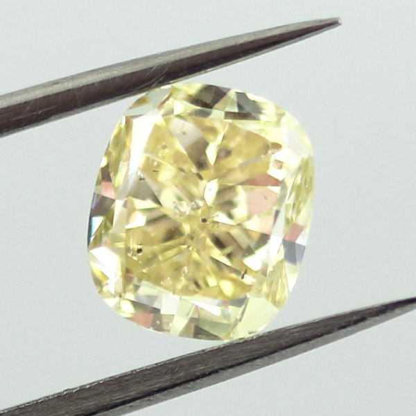 Fancy Yellow Diamond, Cushion, 1.41 carat, I1