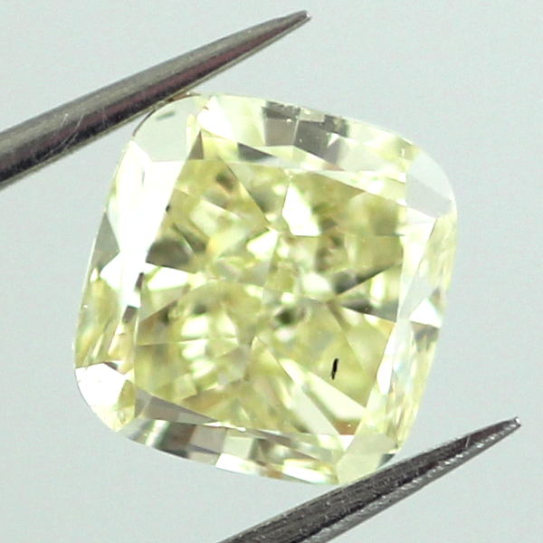 Fancy Yellow Diamond, Cushion, 2.01 carat, SI2
