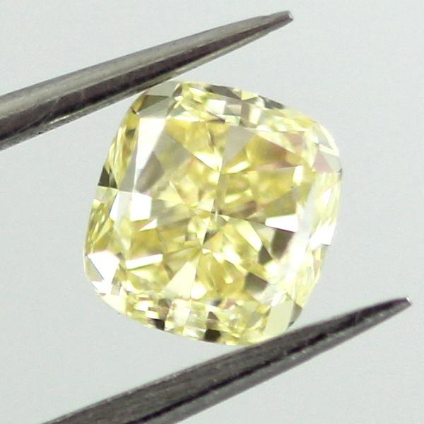 Fancy Yellow Diamond, Cushion, 0.70 carat, SI1