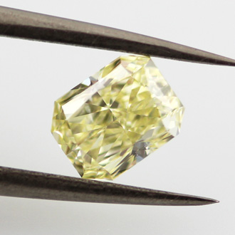 Fancy Yellow Diamond, Radiant, 0.92 carat, SI1