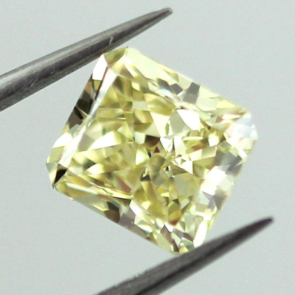Fancy Yellow Diamond, Radiant, 1.24 carat, VVS2