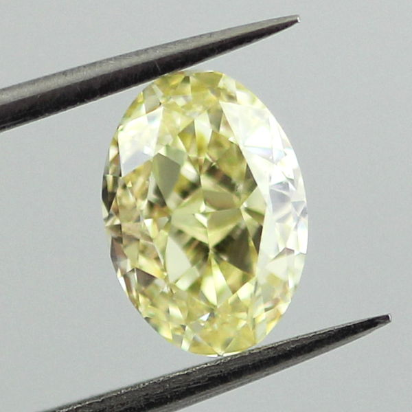 Fancy Yellow Diamond, Oval, 1.08 carat, VS2