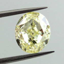 Fancy Yellow, 1.61 carat, SI2