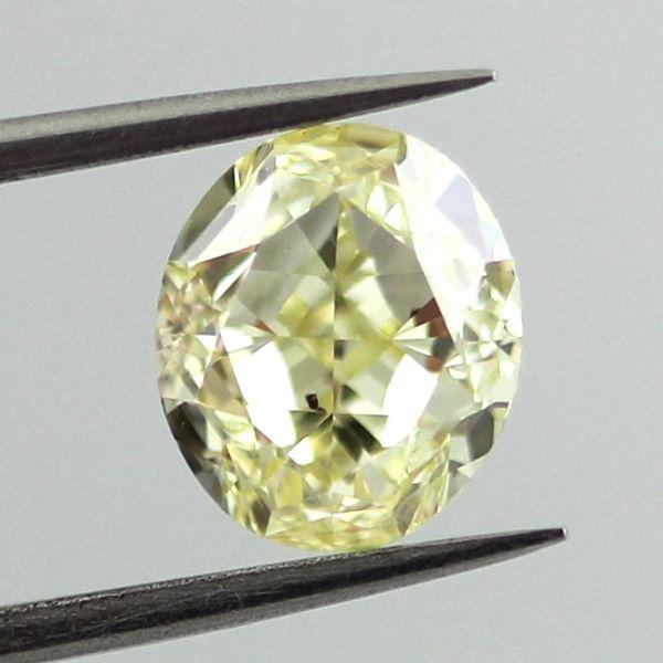 Fancy Yellow Diamond, Oval, 1.61 carat, SI2