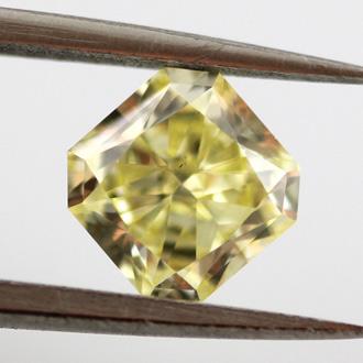 Fancy Yellow, 0.93 carat, VS2