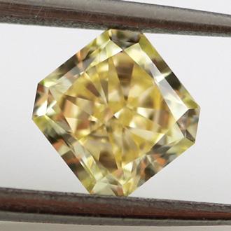 Fancy Yellow, 0.92 carat, VS2