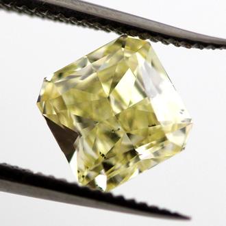 Fancy Yellow, 0.99 carat, SI2