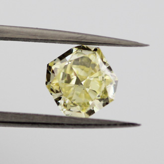 Fancy Yellow, 0.86 carat, VVS2