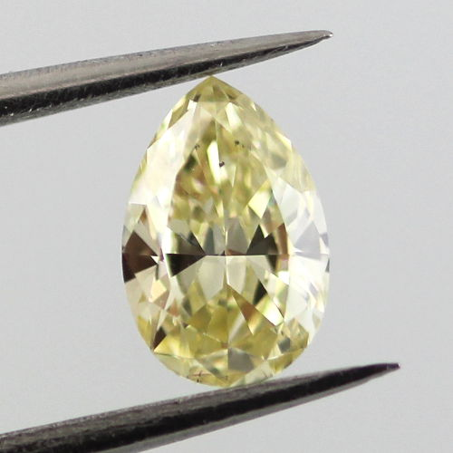 Fancy Yellow, 0.49 carat, VS2