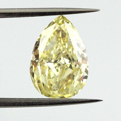 Fancy Yellow Diamond, Pear, 2.24 carat, SI1