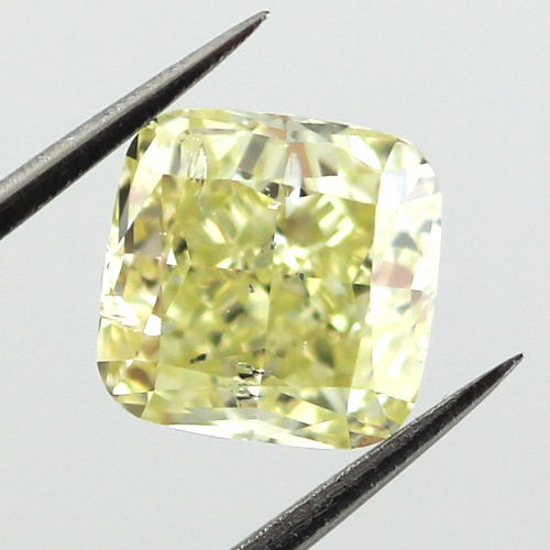 Fancy Yellow Diamond, Cushion, 2.19 carat, I1