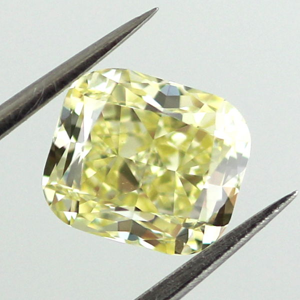 Fancy Yellow Diamond, Cushion, 1.59 carat, VVS2