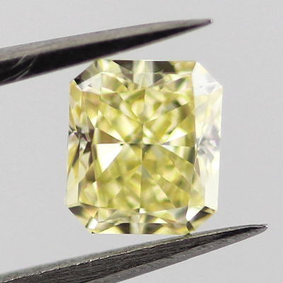 Fancy Yellow Diamond, Radiant, 0.54 carat, VVS1