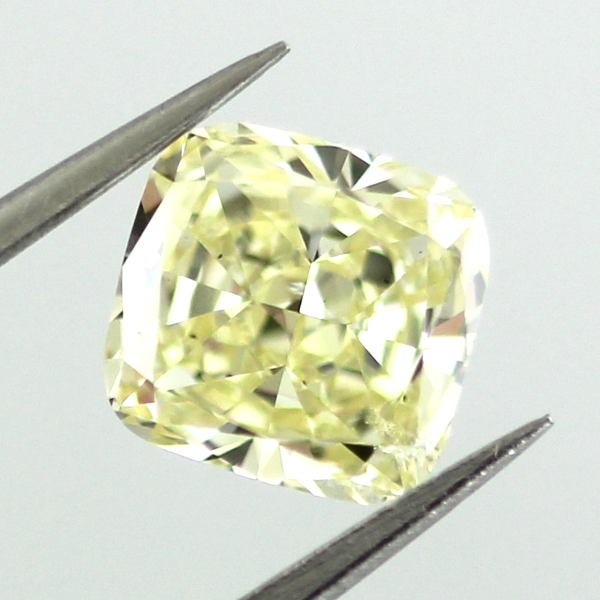 Fancy Yellow Diamond, Cushion, 1.02 carat, SI1