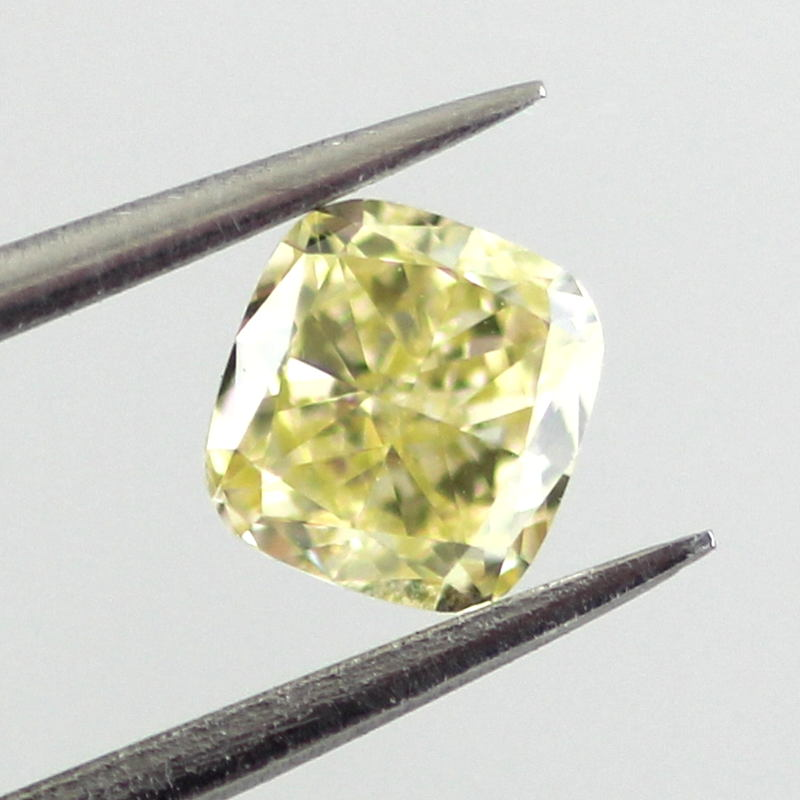 Fancy Yellow Diamond, Cushion, 0.41 carat, VS2- C