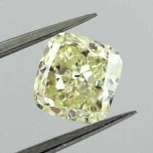 GIA Cushion Fancy Yellow Diamond, 1.26 carat