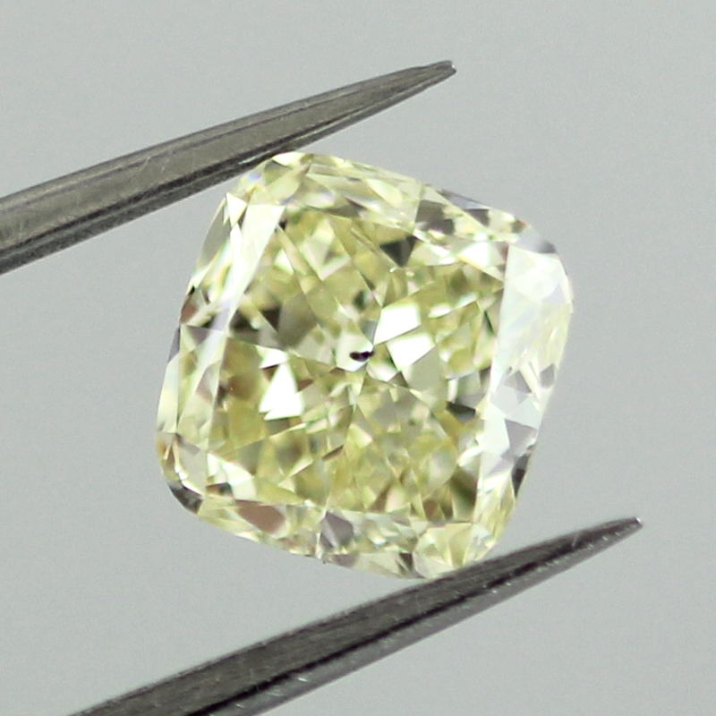 Fancy Yellow Diamond, Cushion, 1.26 carat, SI1