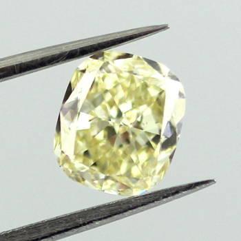Fancy Yellow Diamond, Cushion, 1.24 carat, SI1 - Thumbnail