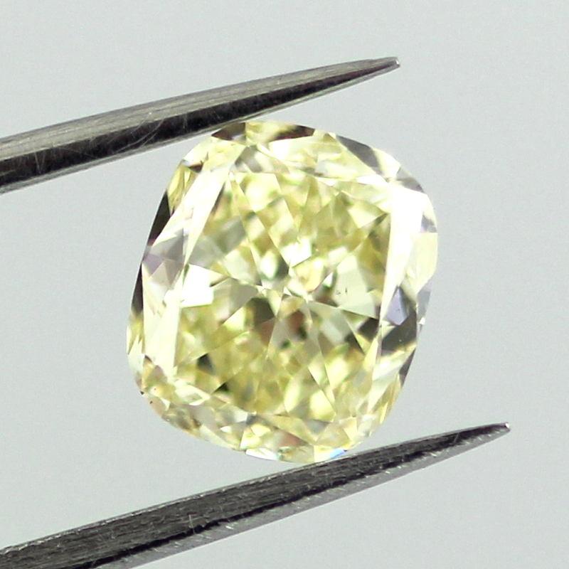Fancy Yellow Diamond, Cushion, 1.24 carat, SI1