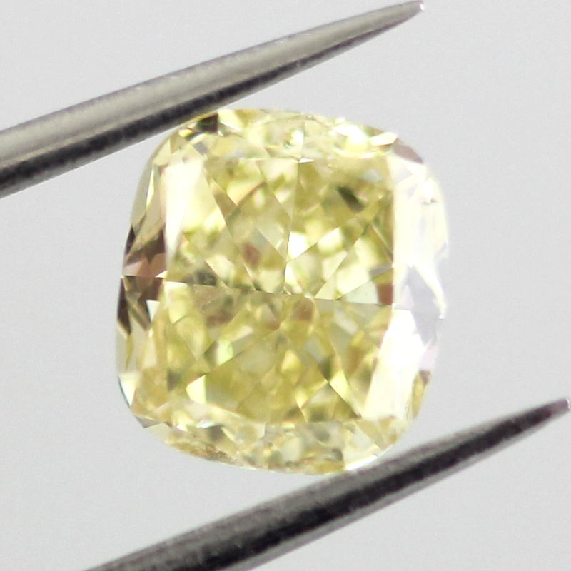 Fancy Yellow Diamond, Cushion, 1.03 carat, SI1