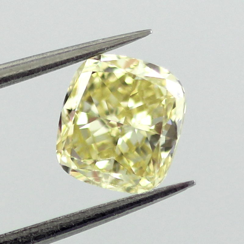 Fancy Yellow Diamond, Cushion, 1.23 carat, SI1