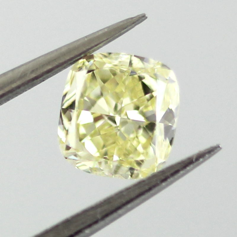 Fancy Yellow Diamond, Cushion, 0.51 carat, VS1- C