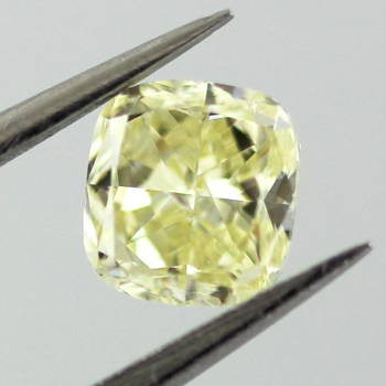 Fancy Yellow Diamond, Cushion, 0.51 carat, VS1 - Thumbnail