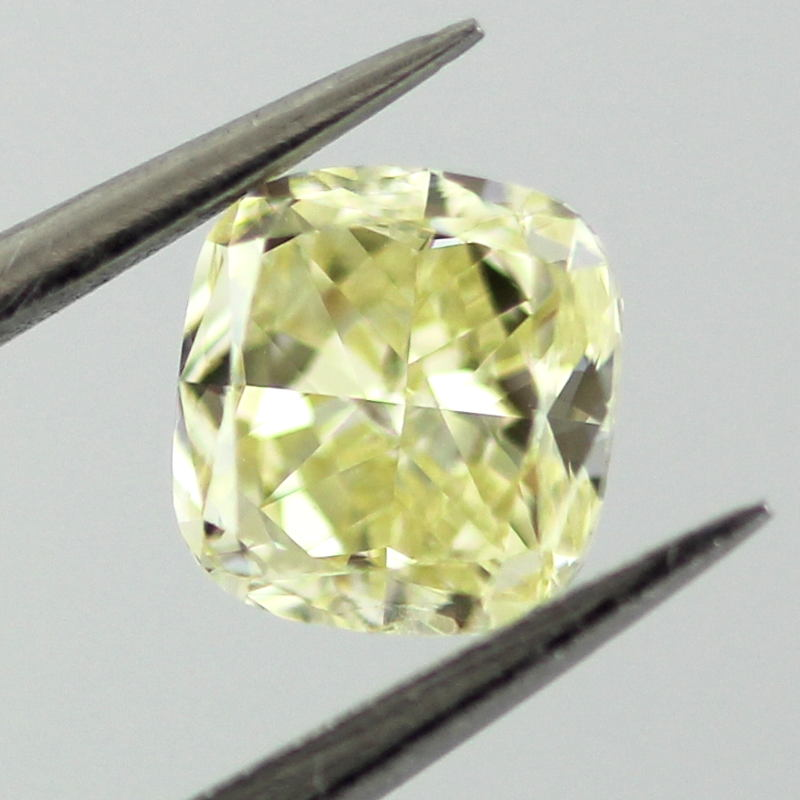 Fancy Yellow Diamond, Cushion, 0.51 carat, VS1