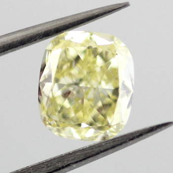 Fancy Yellow Diamond, Cushion, 0.84 carat, VS2 - Thumbnail