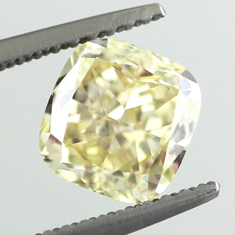 Fancy Yellow Diamond, Cushion, 1.81 carat, VS2