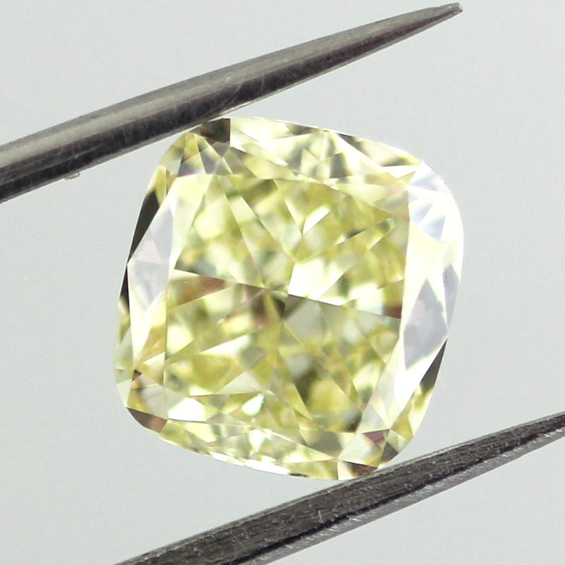 Fancy Yellow Diamond, Cushion, 1.84 carat, SI1