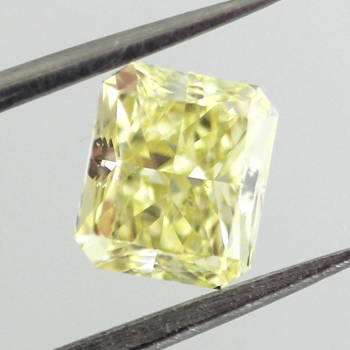 Fancy Yellow, 0.91 carat, SI1