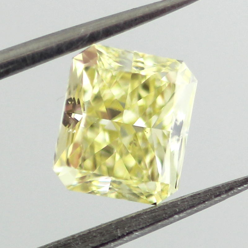 Fancy Yellow Diamond, Radiant, 0.91 carat, SI1