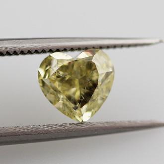 Fancy Yellow Diamond, Heart, 0.83 carat