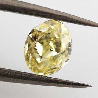 Fancy Yellow, 0.68 carat, SI2