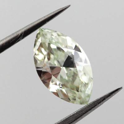 Fancy Yellow green Diamond, Marquise, 0.70 carat, SI1 - B