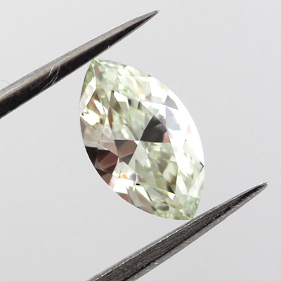 Fancy Yellow green Diamond, Marquise, 0.70 carat, SI1- C