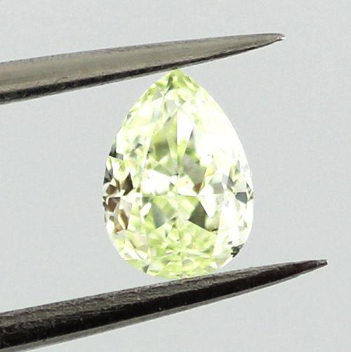 Fancy Yellow green Diamond, Pear, 0.34 carat, SI1