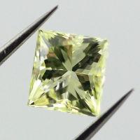 Fancy Yellow green, 0.50 carat, SI2