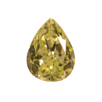 Fancy Yellow green Diamond, Pear, 1.07 carat, SI1